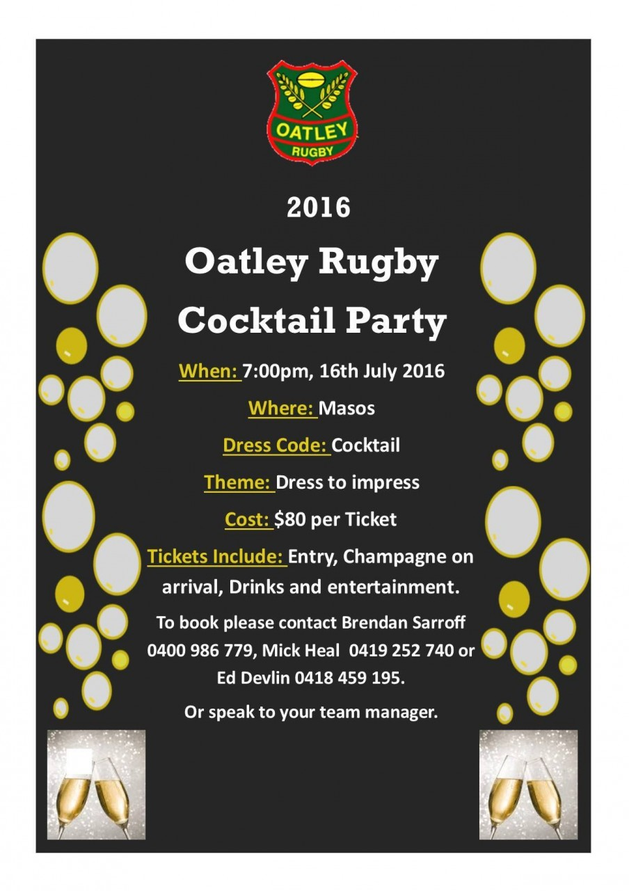 Oatley Rugby Cocktail Party 2016